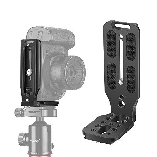 Neewer L型ブラケット垂直QRプレート ユニバーサルDSLRカメラLブラケット 1/4インチスクリューアルカスイス付き DJI Osmo Ronin Zhiyun Nikon Canon Sony DSLR カメラに対応