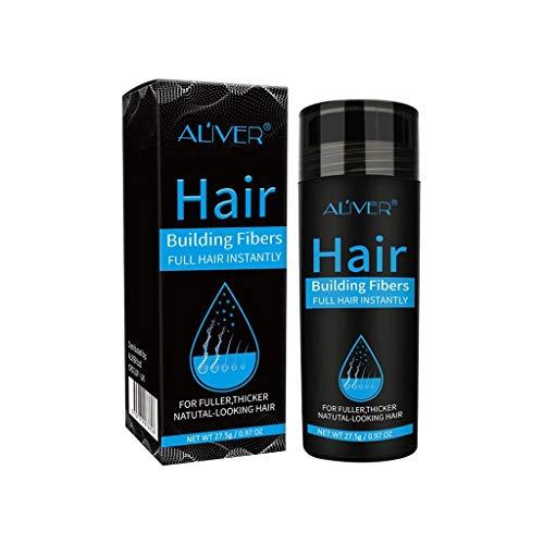 Webla Fibres de Renforcement des Cheveux Poudre de Plus Épaisse Anti-Cernes Perte de Cheveux Pleins, Bouteille Est Sans Tête de Pulvérisation (Noir)