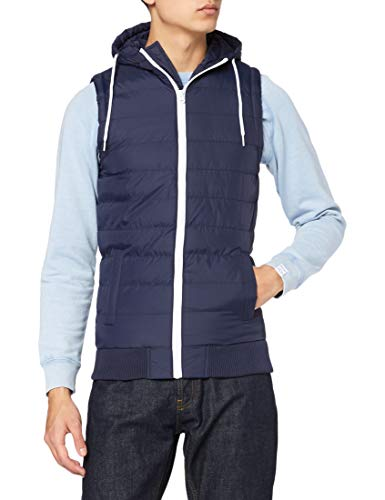 Urban Classics Small Bubble Hooded Vest Weste, blue, L