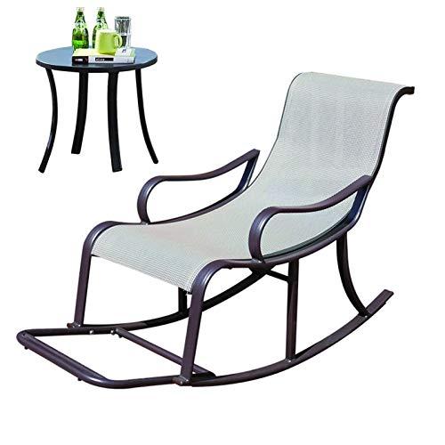 Home Tumbonas de salón Silla de jardín, patio, chaise Lounge Sets Balcón Silla mecedora al aire libre Ocio Hotel Jardín Villa Lounge Silla de almuerzo (Color: A)