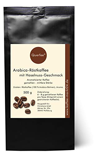 Aromatisierter Kaffee - Haselnuss - Mit Liebe geröstet mit Haselnuss Aroma - gemahlen (500 g)