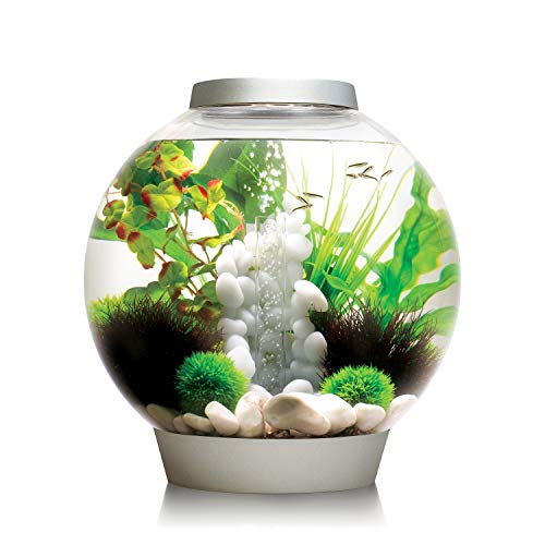 biOrb CLASSIC 30 Aquarium with LED - 8 gallon, Silver
