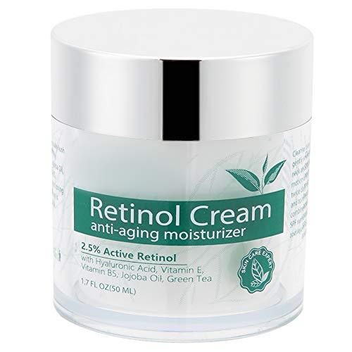 Crema de retinol de 50 ml, crema hidratante para el cuidado de la piel para hombres y mujeres, crema hidratante antiarrugas con retinol, vitaminas, una crema antienvejecimiento