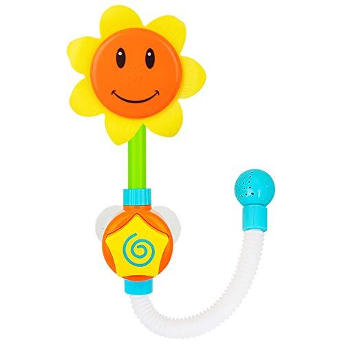 INTVN Baby Dusche Spielzeug, 1 PCS Niedliche Sonnenblume Muster Baby Badewanne Spielzeug Wasserspielzeug Badewanne Kleinkind Spray Bade Tub Springbrunnen Spielwaren
