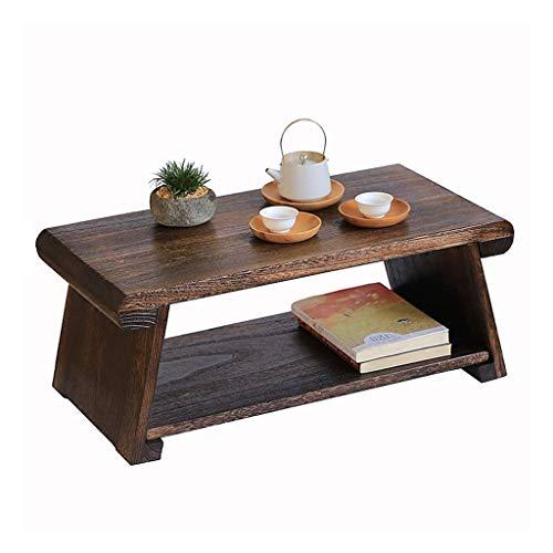 FENXIXI Tabla de Madera sólida, Mesa de café Tatami, Rústico Industrial Mesa de café, Sala de Estar Muebles de Madera Acabado Top