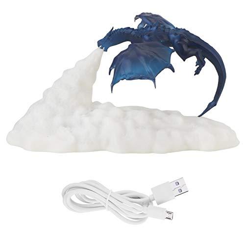 Emoshayoga Lámpara de Mesa de Material PLA ecológico en Forma de dragón de Fuego con luz LED para Barra de Oficina y Dormitorio para Regalo