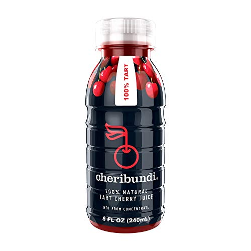 Cheribundi 100% Tart Cherry Juice – 60 Tart Cherries and 100 Calories Per 8oz. Serving, One Ingredient, All of the Benefits, Reduce Soreness, Recover Faster, Boost Immunity and Improve Sleep, 12 Pack