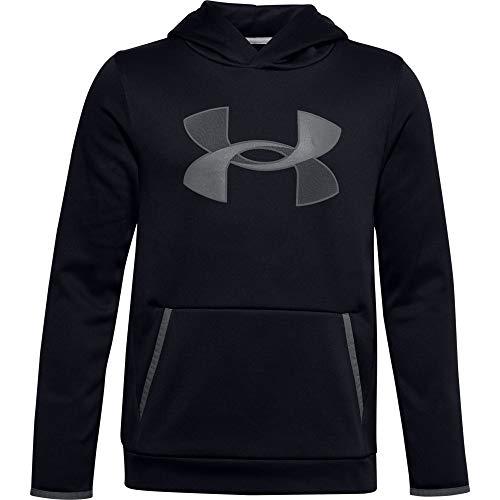 Under Armour Jungen Armour Fleece Big Logo Hoodie Aufw rmoberteil, Black Pitch Gray (001), XL EU