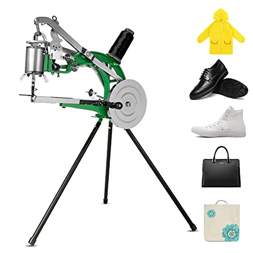 BEAMNOVA Leather Cobbler Sewing Machine Industrial Hand Heavy Duty Shoe Repair Equipment with Needles for Canvas Cotton Linen Sewing Craft Tools