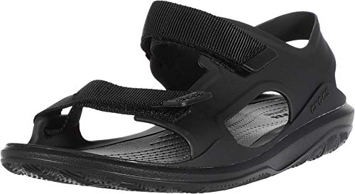 Crocs Swiftwater Molded Expedition Sandal, Sandalias de Punta Descubierta para Hombre, Negro (Black/Black 060), 43/44 EU