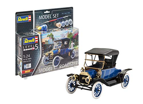 Revell Ford T Roadster (1913) Model Set Maqueta con Pintura y Pegamento, Multicolor, 1/72 67661