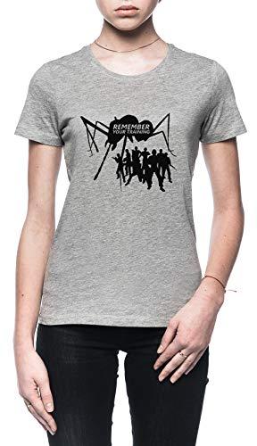 Rundi Terra Difesa Vigore Donna T-Shirt Grigio Dimensioni XXL - Women's T-Shirt Grey