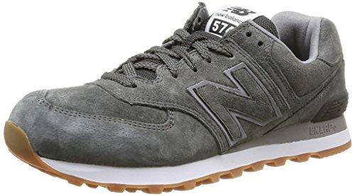 New Balance 574, Sneaker a Collo Basso Uomo, Grigio (Grey Full Pigskin), 42 EU