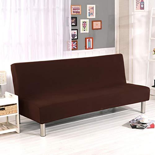 Funda de Spandex para sofá Cama elástica sin apoyabrazos Funda de sofá Ajustada para Sala de Estar Fundas Suaves Fundas elásticas para sofá Color 13, S (160-185CM)