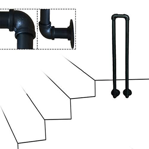 Pasamanos de escaleras para interiores y exteriores, barra de soporte de seguridad para escalones, pasamanos de escalera antideslizantes en forma de U, pasamanos de loft para pasillos de personas