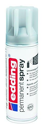 edding 5200-996 - Spray de pintura acrílica de 200 ml, secado rápido sin burbujas, imprimación universal, color gris
