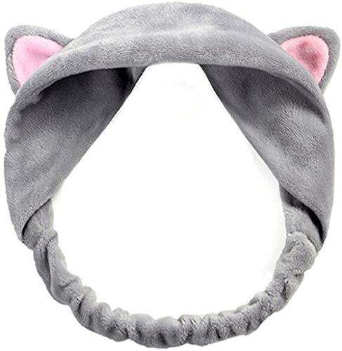 Sgualie Headband Hair Wear Makeup Shower Face Wash Hairband, Grey, One Size