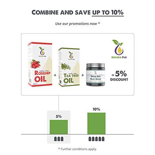 Natura Pur Bio Teebaumöl 50ml – 100% naturreines ätherisches Öl aus Australien, vegan – zur Anwendung auf unreiner Haut, Hautentzündungen, Anti Pickel, Akne sowie Warzen und Pilzen – Diffuser Öl - 4