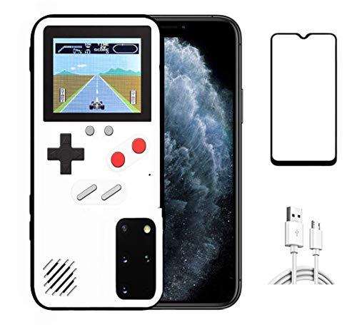 Homi2019 Mobile Case Game Console, Gameboy Caso per Samsung Galaxy S20 Plus Retro 3D Custodia Protettiva con 36 Piccolo Gioco Full Color Display Antiurto Caso Video