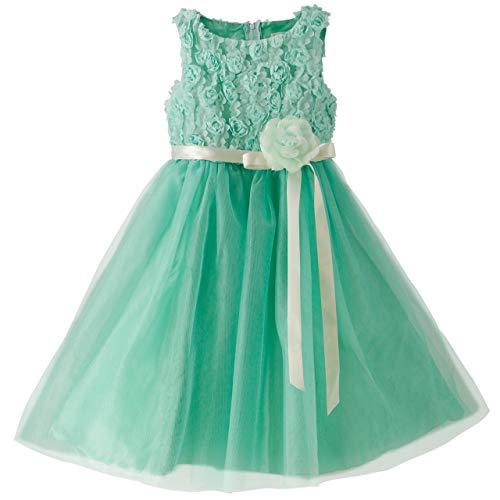 Catherine Cottage 結婚式 発表会 フラワーガール バラのラメチュール ドレス 子供ドレス PC728YK 160cm ミントグリーン TAK