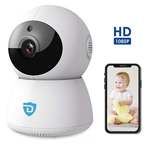 WiFi Überwachungskamera | mit 2-Wege-Audio | Indoor | Babyphone | 1080P Full HD IP Kamera mit Nachtsicht | Schwenk-Neige-360 ° -Kamera | Android und iOS App