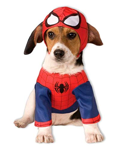 Horror-Shop Spider-Man Dog Costume L