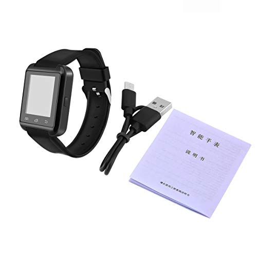 Heaviesk Bluetooth-Uhr V3.0 + EDR Smart Armbanduhr-Telefon-Kamera-Karten-Kamerad Universal für intelligentes Telefon
