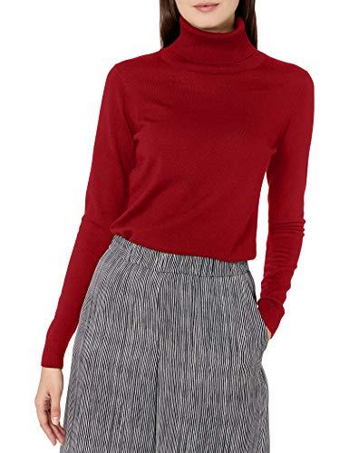 Pendleton Women's Timeless Merino Wool Turtleneck Sweater, Cherry Red, XS
