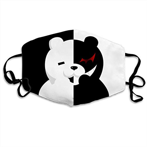 Mundschutz Danganronpa Monokuma Hip Hop Face Cover, Roleplaying Japanese Anime Cartoon Style Face Cover, Washable and Reusable Mouth Cover