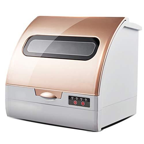 OCYE Kompakter Tischgeschirrspüler für 6 Geschirrsets mit Lufttrocknungsfunktion für Wohnungen, Wohnmobile, Büros und andere kleine Küchen. Elektrische Geschirrspüler (Weiß, Gold)