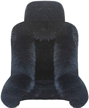 IMQOQ A Pair Genuine Sheepskin Fur Car 2 Front Seat Covers Set Winter Warm Universal Purple