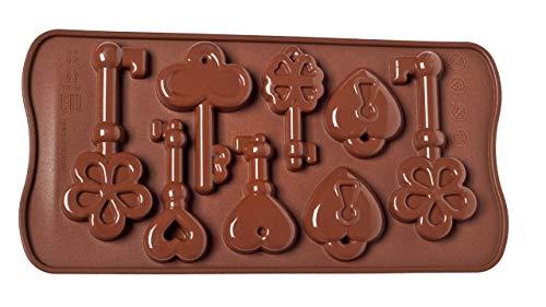 Unbekannt SCG33 Molde de Silicona para chocolatines con Forma de Llaves, Color marrón