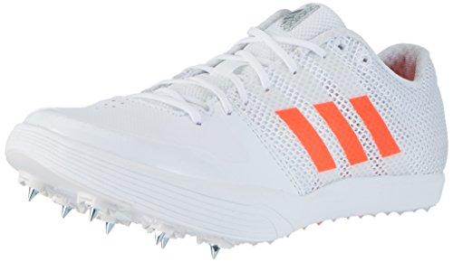 adidas adidas Unisex-Erwachsene Adizero Long Jump Leichtathletikschuhe, Weiß (FTWR White/Solar Red/Silver Metallic), 42 EU
