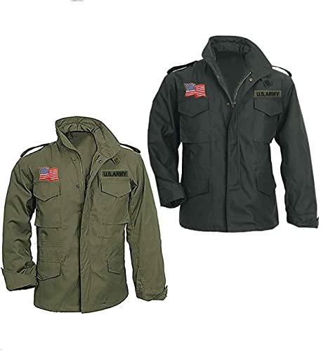 EU Fashions John Rambo First Blood Sylvester Stallone M65 Militar US Army Army Chaqueta de algodón verde oliva