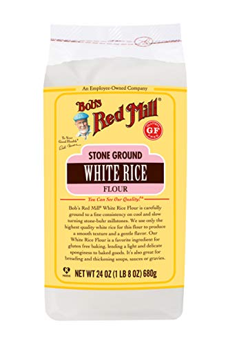 Bob's Red Mill Gluten Free White Rice Flour, 24 Ounce (Pack of 4)