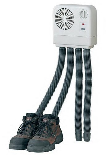 Melissa 670-052 16540010-Secador eléctrico Goma, Secadora Senderismo o Botas de esquí, calefacción con Ventilador y Temporizador para 2 Pares de Zapatos Guantes, 350 W, Negro