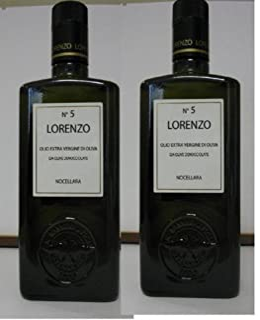 Lorenzo N.5 Extra Virgin Olive Oil (2 X 500ml Bottles) (Sicilian)