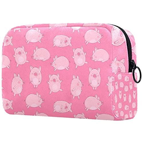 Neceser de viaje, bolsa de viaje impermeable, bolsa de aseo para mujeres y niñas, acuarela flores y hojas, 18,5 x 7,5 x 13 cm