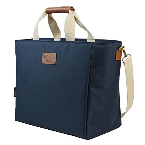 Extra Large Picnic Cooler Tote Bag Portable and Soft Insulated Camping Coolers for Outdoor Beach Travel Navy Blue