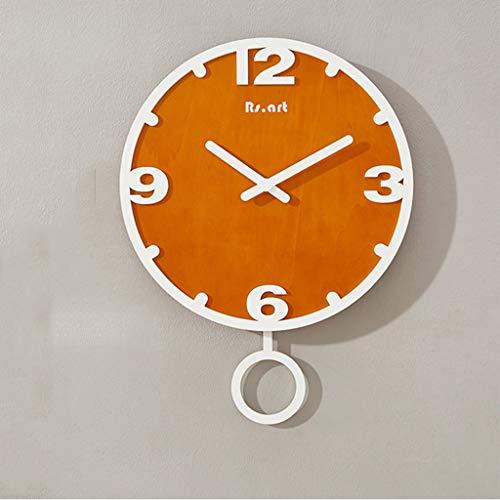 Präzisions-Armbanduhr, 3D-Effekt, Büro, Stereo, Wanduhr, großes Zifferblatt, rundes Zifferblatt, MDF, C-48 (C)