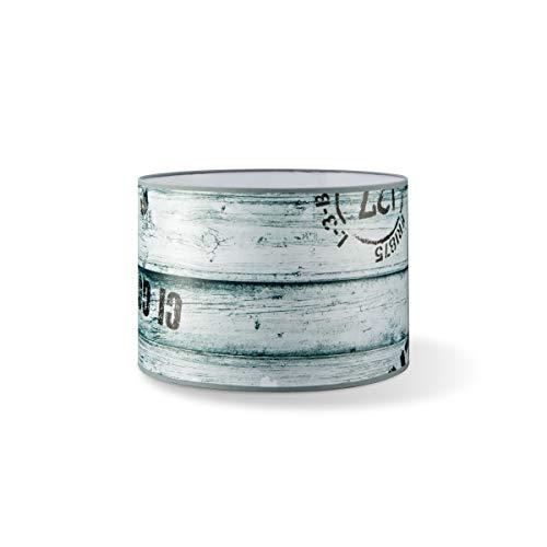 Abat-jour rond imprimé | Abat-jour cylindrique | Abat-jour droit | Culot E27 | Diamètre 16 cm Hauteur 15 cm | Couleur | Convient pour LED
