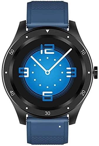 Reloj inteligente 1.3 pulgadas pantalla táctil completa IP67 impermeable reloj deportivo con monitor de ritmo cardíaco, monitor de sueño, podómetro, rastreador de fitness azul