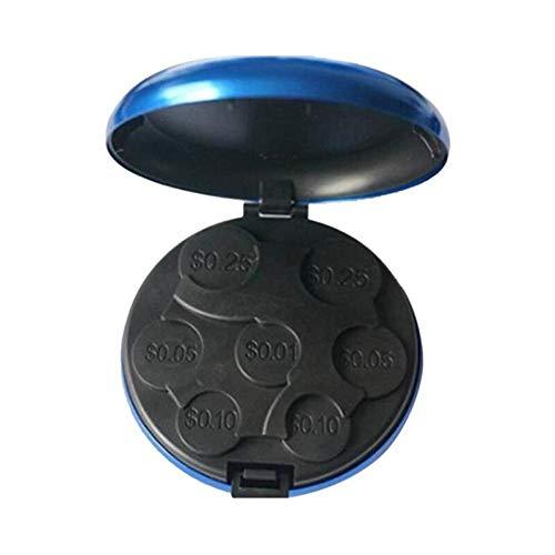 BYFRI 1pc Mini Especie De Almacenamiento De Monedas Caja De La Caja Portable del Sostenedor De Hucha Euro Envase Dispensador De Monedas Cambio Monedas De Dólar Monedero Monedero (Color Azar)