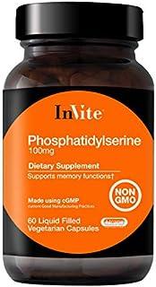 InVite Health Phosphatidylserine, Supports Memory Functions 60 Vegetarian Capsules (Pack of 1)