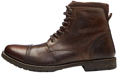 find. Max Herren Zip Worker Biker Boots, Brown (Dark Brown), 44 EU