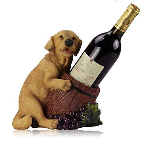WUHUAROU Bonito Soporte para Vino de Resina para Perros, decoración, Escultura, Adorno para Muebles artesanales. Creative Puppy Wine Bottle Rack Barware Wine Set