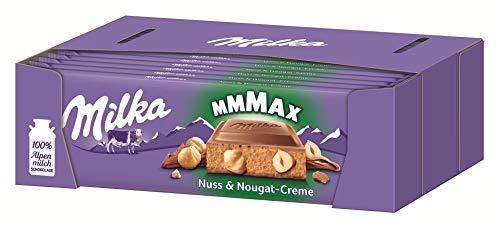 Milka Nuss-Nougat-Crème - Schokoladentafel mit cremiger Nuss-Nougat Füllung und ganzen Haselnüssen - Großtafel - 13 x 300g