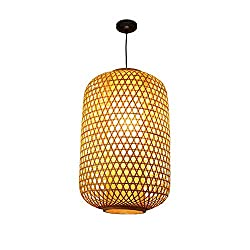 WMING Nordic Simple Branch Shape Chandelier, Southeast Asian Tropical DIY Wicker Rattan Hanging lamp