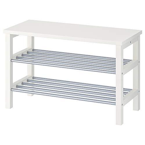 MBI Sitzbank mit Schuhaufbewahrung, weiß, Größe aufgebaut: Breite 81 cm, Tiefe 34 cm, Höhe 50 cm
