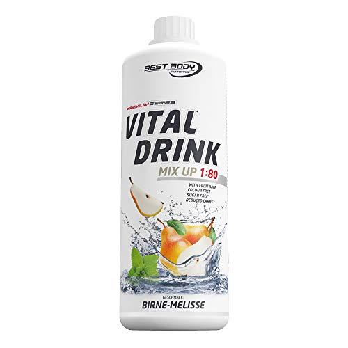 Best Body Nutrition Vital Drink Birne Melisse, Getränkekonzentrat, 1 l